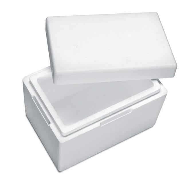 Styroporbox für 2 Kg Trockeneis Nuggets